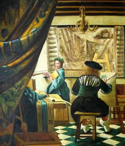 Copias al leo de cuadros de vermeer arteespa a - La lechera de vermeer ...