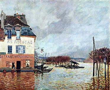 Inundación en Port-Marly (1876) . Alfred Sisley