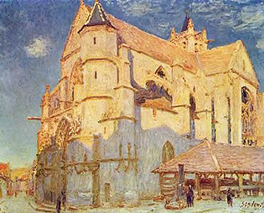 Iglesia de Moret. Alfred Sisley