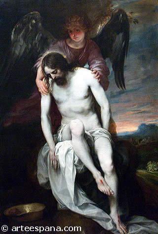 """""""Cristo muerto sostenido por un ángel"""" de Alonso Cano"""