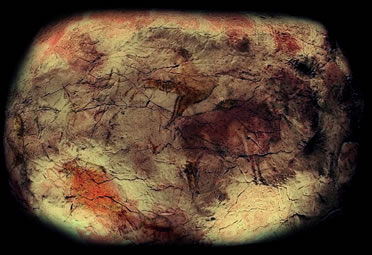 Réplica del techo de la cueva de Altamira