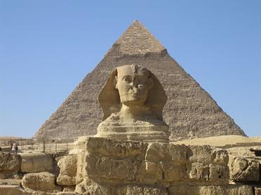 Arquitectura egipcia. Gran pirámide de Khufu, en Giza