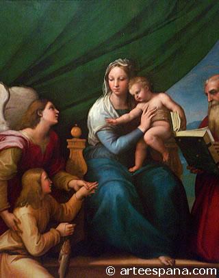 Cinquecento Italiano. Sagrada Familia de Rafael