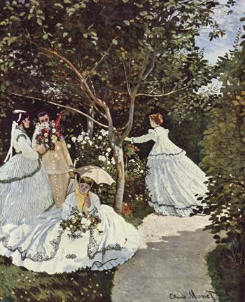 Mujeres en el jardín. Claude Monet