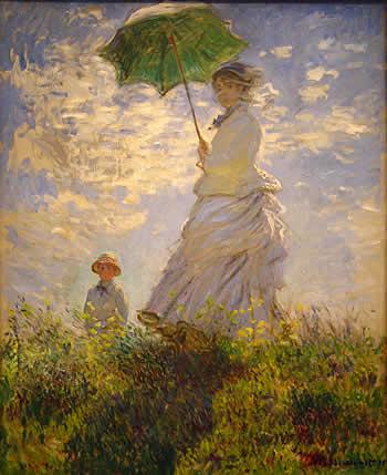 Mujer con sombrilla. Claude Monet