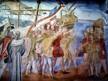 Los Murales de la Rábida. Daniel Vázquez Díaz