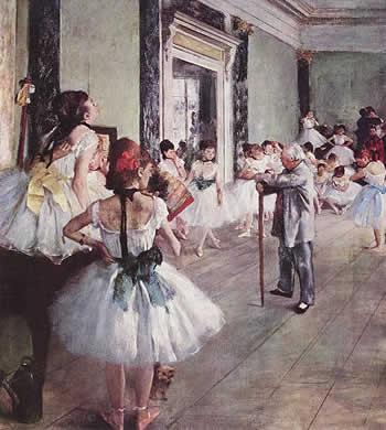 Clase de danza, de Edgar Degas
