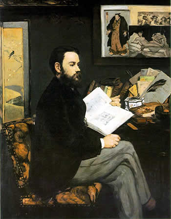 Retrato de Émile Zola. Manet