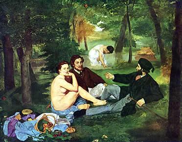 Desayuno sobre la hierba (1863). Eduardo Manet
