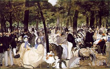 Eduardo Manet: Música en las Tullerías (1862)