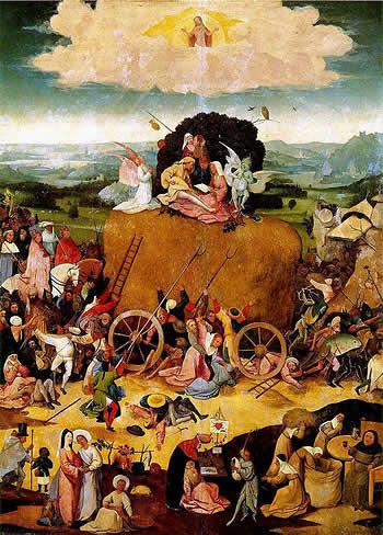 El carro de heno. El Bosco