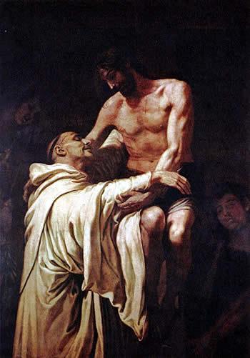 Cristo abrazado a San Bernardo, obra maestra de Francisco Ribalta