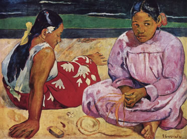 Mujeres de Tahití. Paul Gauguin