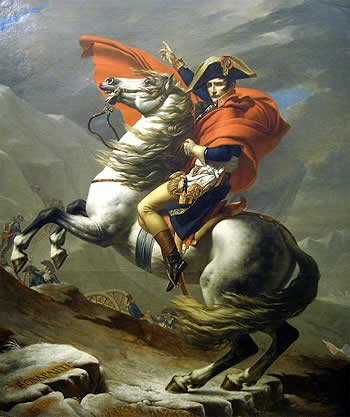 Napoleón a caballo. Jacques Louis David