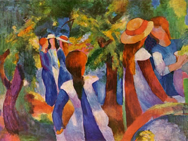 Impresionismo:  August Macke