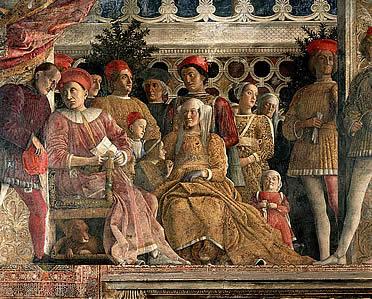 La corte ducal en la Cámara de los Esposos