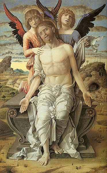 Cristo sostenido por ángeles