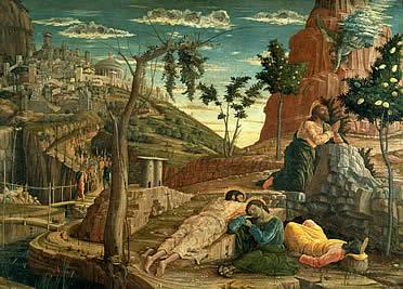 Oración en el Huerto en la predella