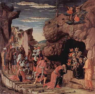 Adoración de los Magos en el Tríptico Uffizi