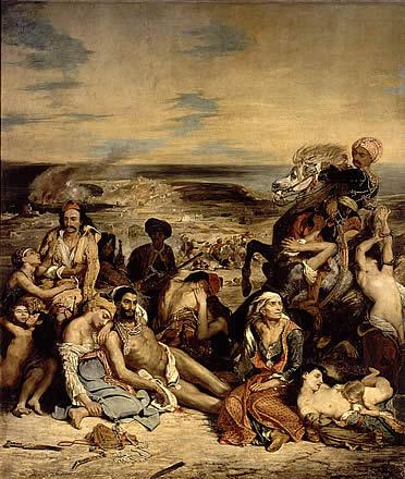 La Matanza de Quíos. Delacroix