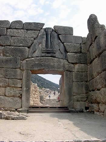 Puerta de los Leones de Micenas