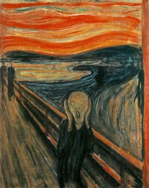 El grito es la expresión de su miedo personal pero en este cuadro