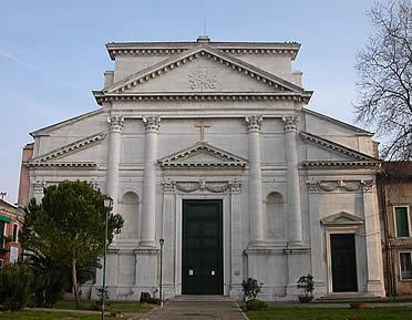 'San Pietro di Castello, uno de los más antiguos testimonios palladianos en la ciudad de Venecia' from the web at 'http://www.arteespana.com/imagenes/palladio-sanpietrocastello.jpg'