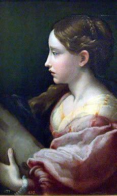 """""""Santa Bárbara"""" de Parmigianino. Pintura del Cinquecento en Italia"""