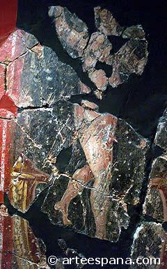 Pintura romana en la Casa de la Fortuna de Cartagena