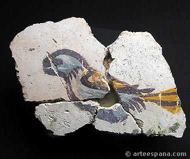 Fragmento de pintura romana en el MARQ
