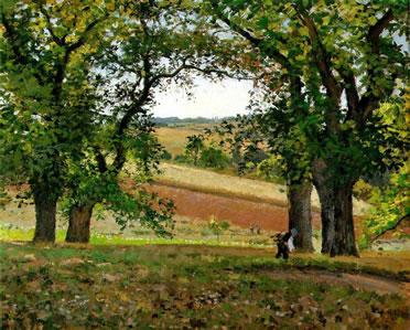 Castaños en Osny. Pissarro