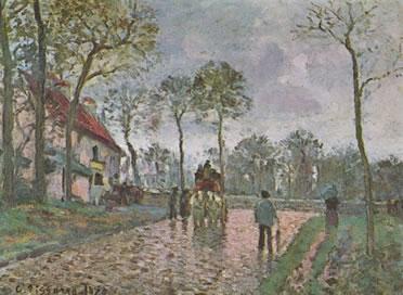 Camille Pissarro: Diligencia a Louveciennes