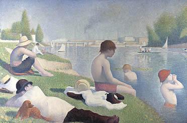 Georges Seurat: El baño de Asniéres