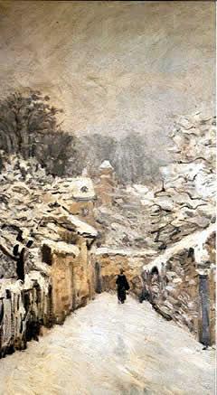 Nieve en Louveciennes (1878). Alfred Sisley