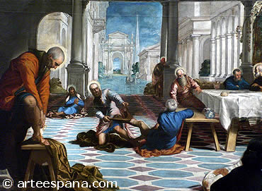 """""""El lavatorio"""" de Tintoretto.  Cinquecento Italiano"""