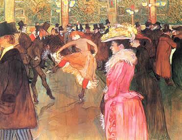 Baile en el Moulin Rouge. Henri de Toulouse-Lautrec